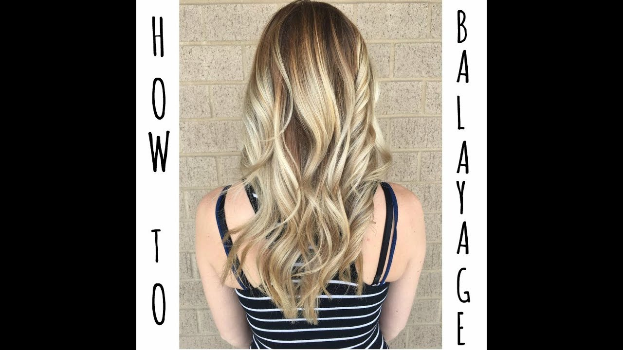 How to balayage with color