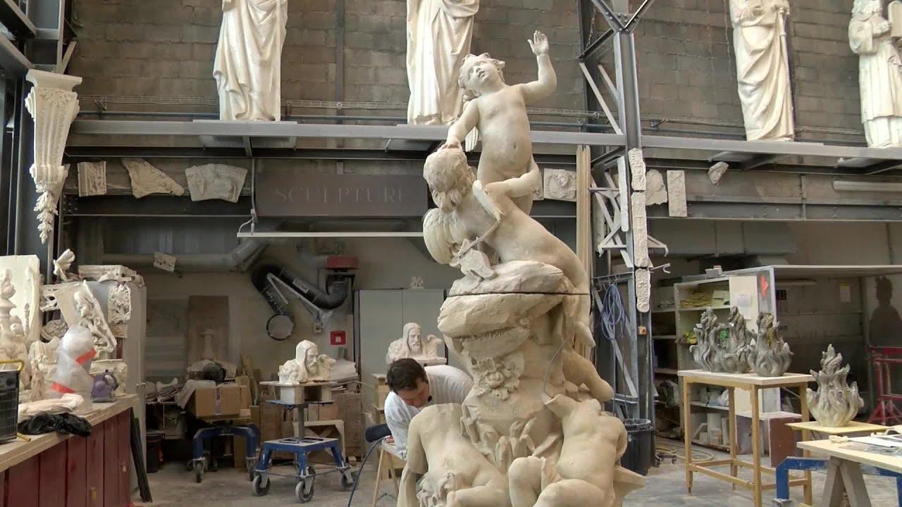 Yvelines | Plaisir : La statue du parc du château se refait une beauté