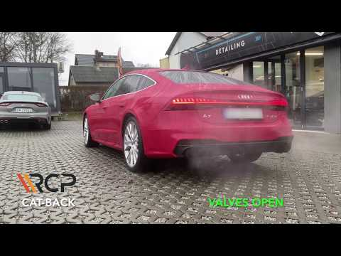 Audi A7 55 TFSI | RCP Exhausts | Cat-Back Exhaust + Valves