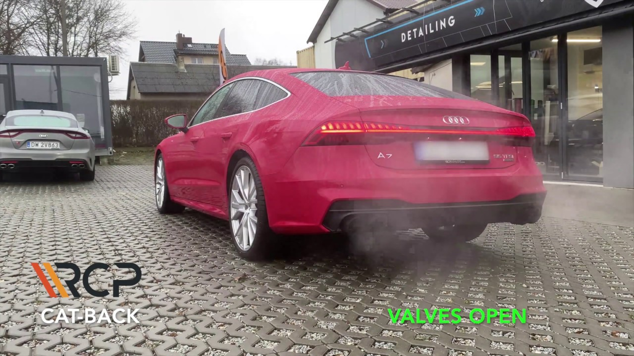 audi a7 55 tfsi rcp exhausts cat back exhaust valves