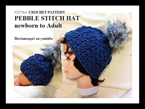 Free Crochet Pattern Pebble Stitch Hat 2270yt Matches Pebble