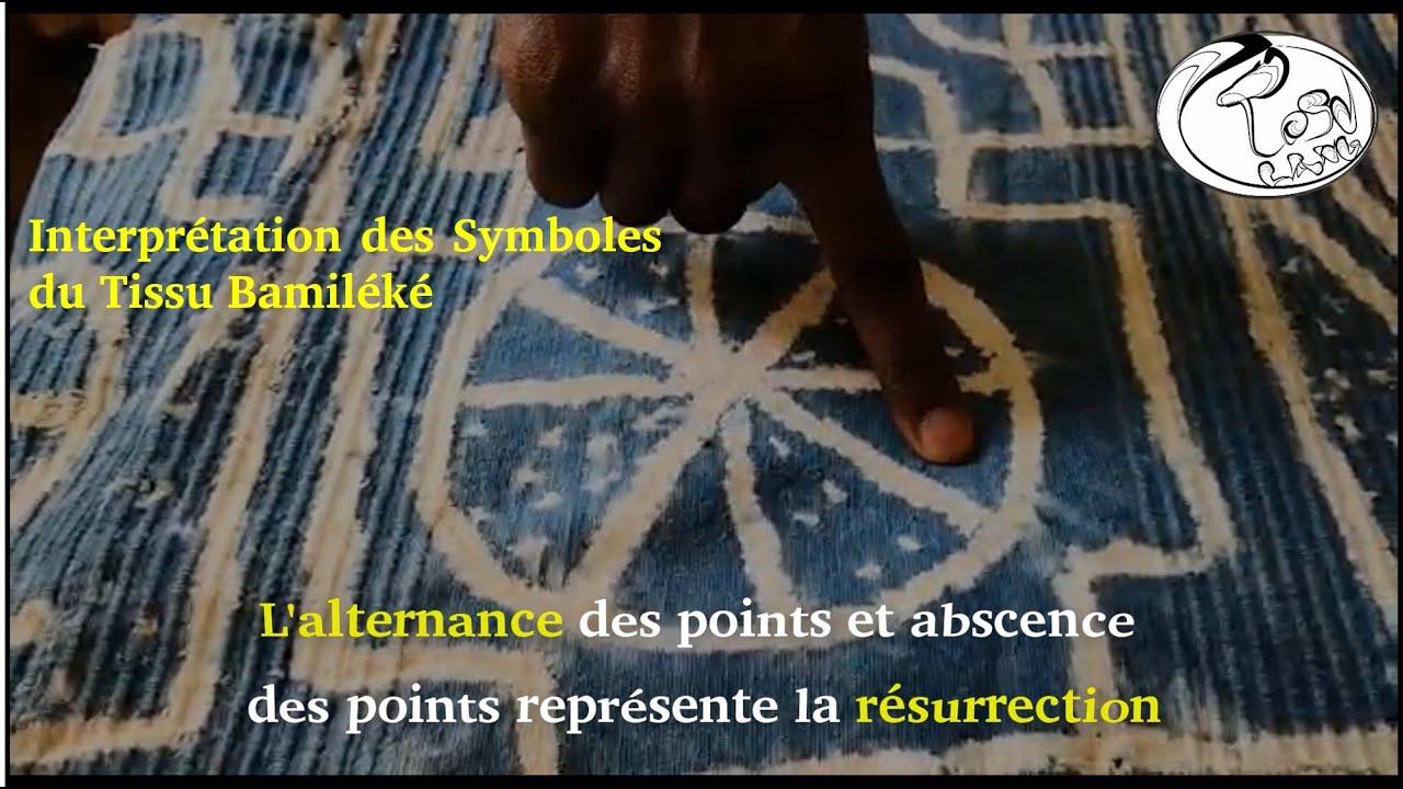 Interpretation des Symboles Graphiques sur le tissu bamileke (Ndzwə̄ ndòp, Ndhī ndɑ̀ɑ̀)