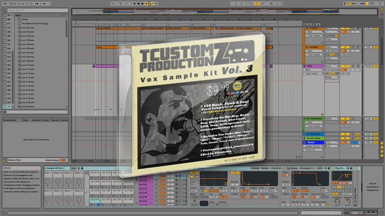 TCustomz Vox Sample Kit Vol 3 DEMO | Hip Hop Vocal Sample Pack ...