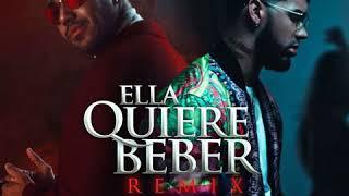 Ella Quiere Beber   - Anuel Aa Feat. Romeo Santos Clean Version