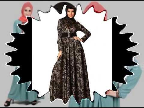 Contoh Baju Gamis Muslim Brokat Terbaru 2017