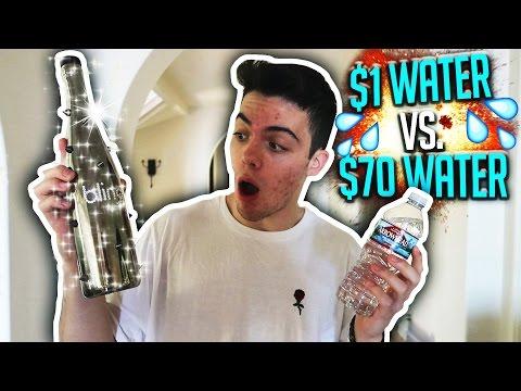 $1 WATER VS $70 WATER!! (CHALLENGE)