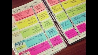 Erin Condren Teacher Planner - Lesson Planning With Post Its