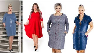 Sukienki dla puszystych pań - moda plus size na co dzień // Plus size dresses for women