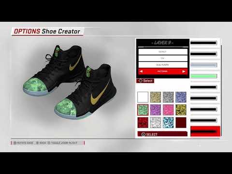 san francisco 7b153 3e489 NBA 2K18 Shoe Creator - Nike Kyrie 3  Shamrock