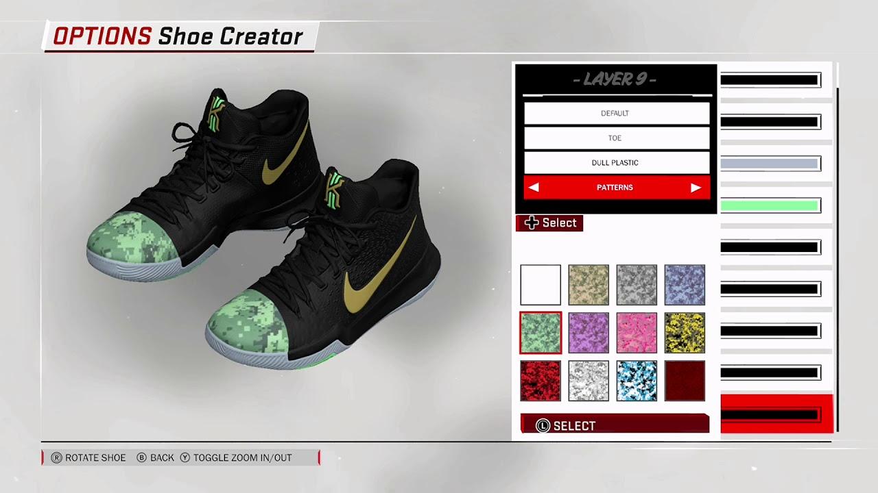 NBA 2K18 Shoe Creator - Nike Kyrie 3