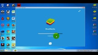 Bluestacks installing, Root with Bluestacks Easy and Lucky Patcher