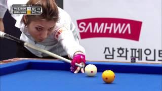 [당구 / Billiard]  쿠드롱-제시카 VS 김재근-김보미 3쿠션 스카치 하이라이트
