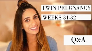 TWIN PREGNANCY UPDATE | WEEKS 31-32| Q&A | BABIES MOVING| STRETCH MARKS ?|