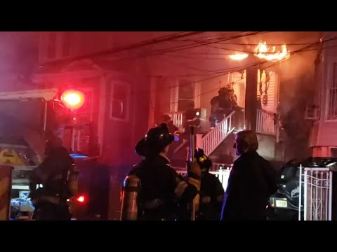Burned Firefighter Hospitalized In Newark Blaze