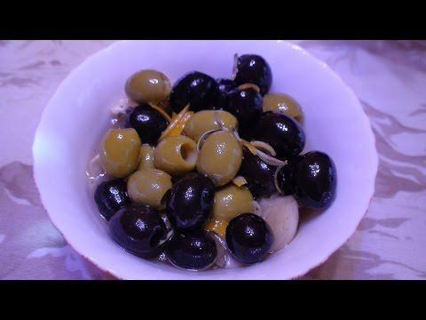 Сыр маринованный с оливками