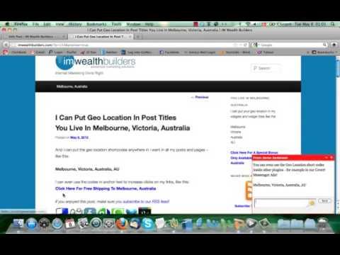 Covert Geo Targeter - How to Easily Geo Target my site