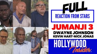 FULL Reaction From Stars JUMANJI 3 The Next Level Dwayne Johnson, Nick Jonas, Kevin Hart, Awkwafina