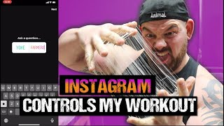INSTAGRAM CONTROLS MY WORKOUT - Strongman Edition