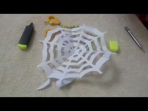 Diy paper spiderweb for Halloween