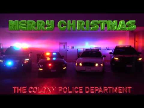 The Colony Police- Christmas Musical Police Cars