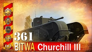 Churchill III - świetny exp! - BITWA - World of tanks