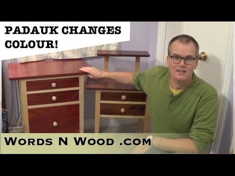 Yes, Padauk Changes Colour... (WnW #37)
