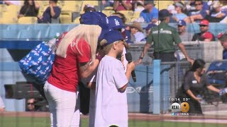 Dodgers Honor Familes Of 3 Fallen Soldiers Before Game Starts