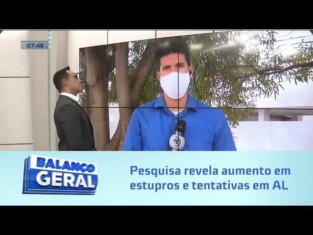 Pesquisa revela aumento de 38,7% em estupros e tentativas em Alagoas