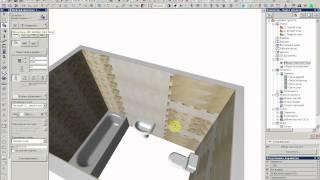 создание разверток стен в ArchiCAD 3 часть