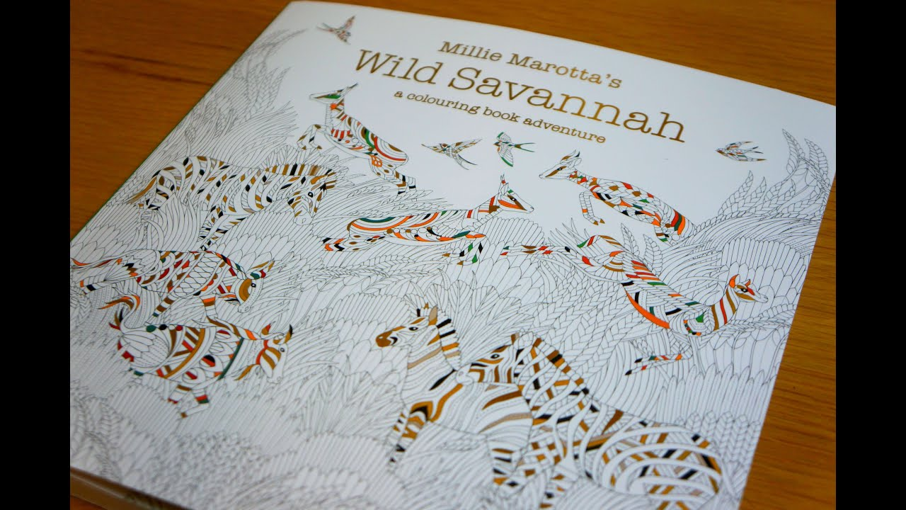 Millie Marottas Wild Savannah Colouring Book Flip Through Preview