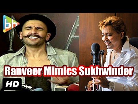 Ranveer Singh Mimics Sukhwinder Singh At 'Gajanana' Song Launch