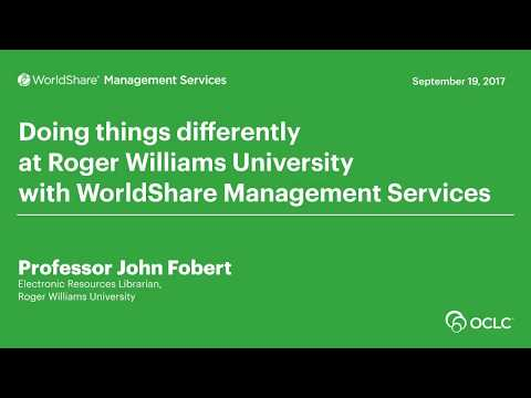 Doing things differently at Roger Williams University with WorldShare Management Services