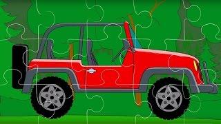 Puzzle. Autos 5. Die Geländefahrzeuge. Teil 1.