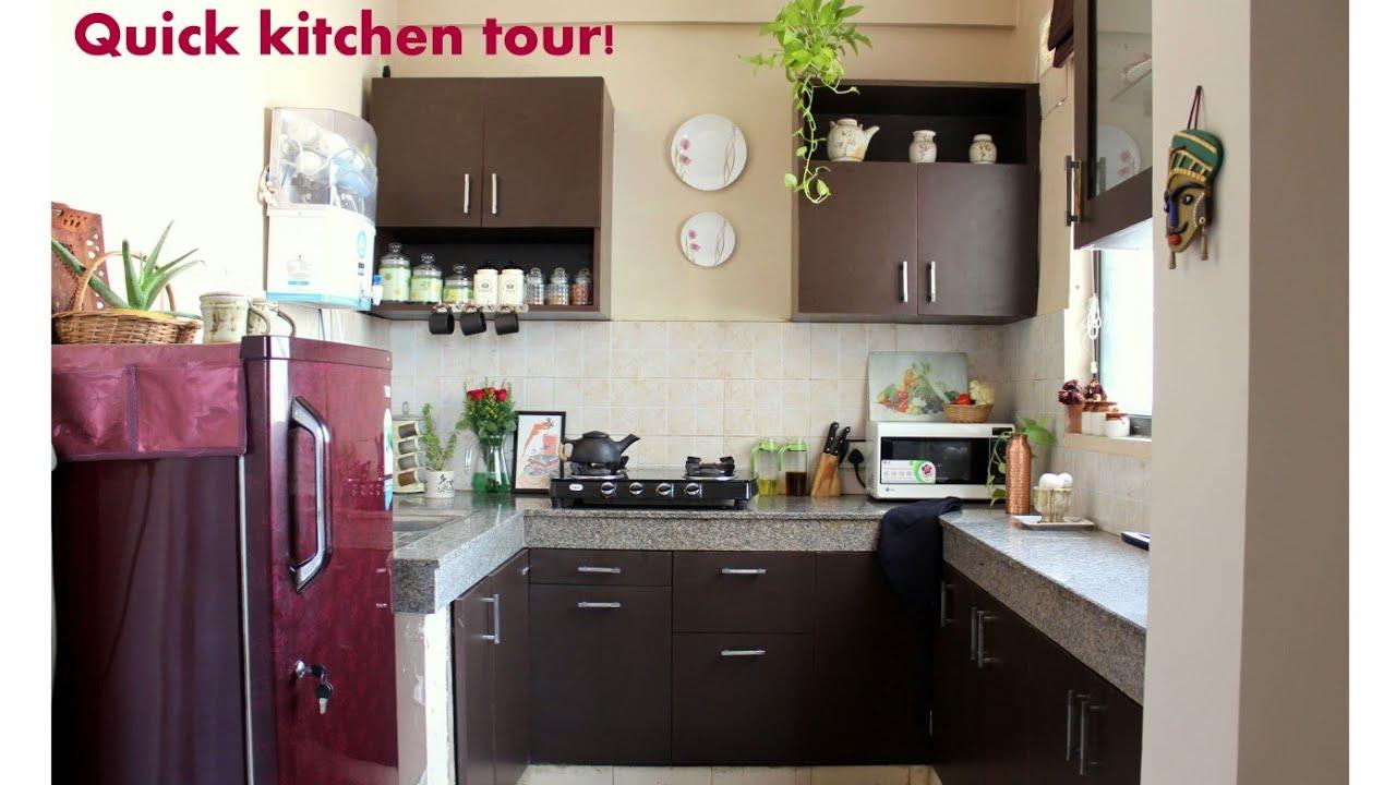 2019 Indian Kitchen Tour Namratas Beautiful Kitchen Youtube