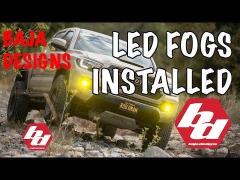 Baja Designs Squadron Sport LED Fog Lights - Review 2016 + Toyota Tacoma