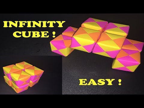 How to make a paper INFINITY CUBE ! I ARTist Diana