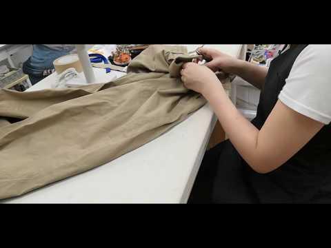 パンツの壊れたファスナーを交換する/Replace broken zipper of the pants(洋服のお直し作業風景)
