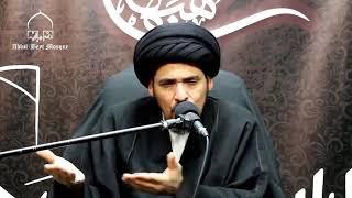 السيد منير الخباز - انقسم الناس عند خروج الإمام الحسين عليه السلام الى كربلاء الى أربعة أقسام