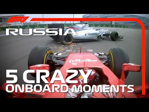 5 Crazy Onboard Moments | Russian Grand Prix