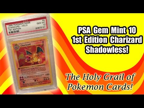 PSA GEM MINT 10 1st Edition Base Set Charizard Shadowless | Rarest & Most  Expensive Pokemon Card!