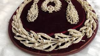 Seed pearl jewels for sale early C19th