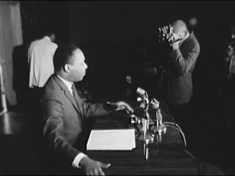 Dr. Martin Luther King Jr. Press Conference at Hampton House, April 13, 1966