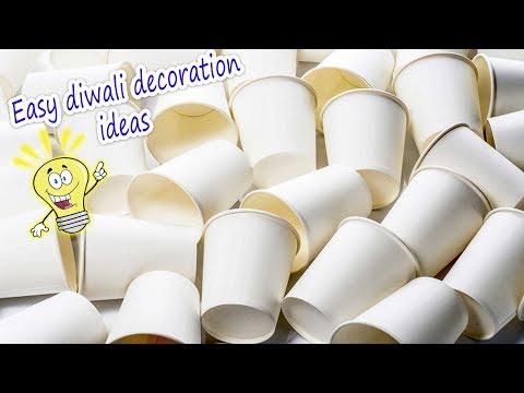Very easy diwali decor idea using tea cups 2017   Artkala 313