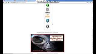 уникальный бесплатный Bitcoin кран Alien Faucet  NEW
