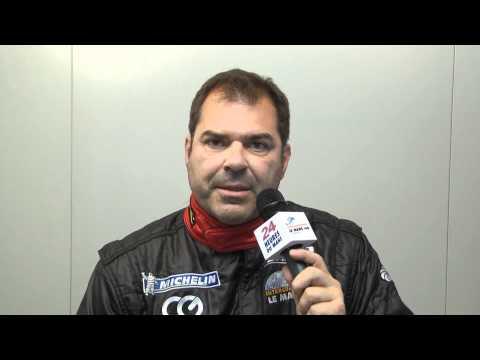 24 Heures du mans 2011, interview de Pierre Ehret pilote de la Ferrari F430 GTC n°62