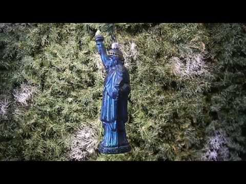 Lady Liberty Green Christmas ornament