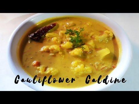 Goan Cauliflower Caldine Recipe | Coconut Milk Curry | Goan Recipes | Cooking Addiction Goa.