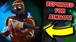I got reported for aimbot on fortnite...