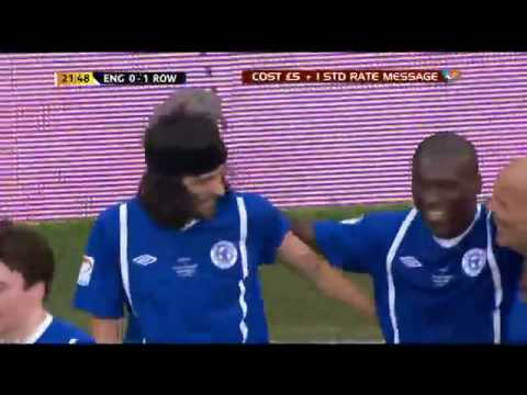 Sensational Goal  by Serge Sergio Pizzorno  Kasabian  Old Trafford  Soccer Aid 2012