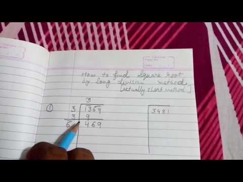 How to find square root by long division method (short method)